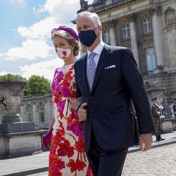 La familia real belga en el Día Nacional. | Foto:Cedoc.