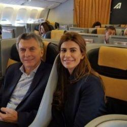 Viaje de Mauricio Macri junto a Juliana Awada.