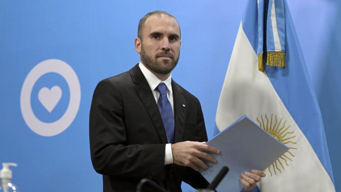 Economy Minister Martin Guzmán.