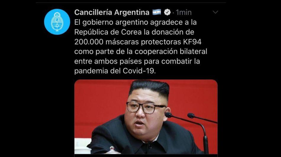 Corea del Sur por la donación 20200818