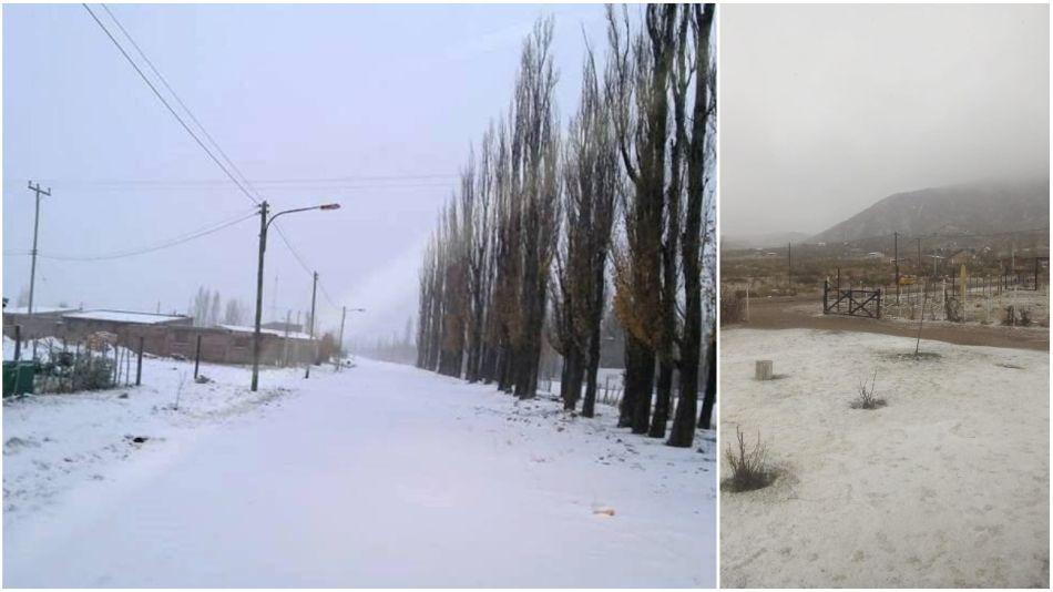 Copiosa nevada en Mendoza.
