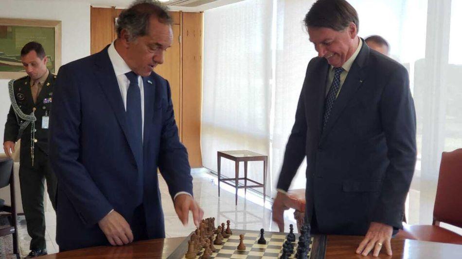 Daniel Scioli y Jair Bolsonaro 20200819