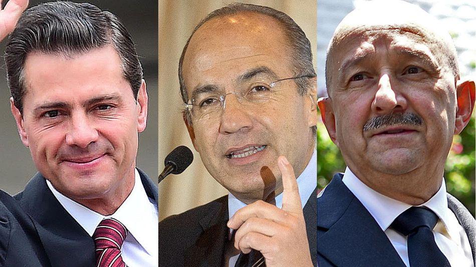 Enrique Peña Nieto, Felipe Calderón y Carlos Salinas de Gortari 20200820