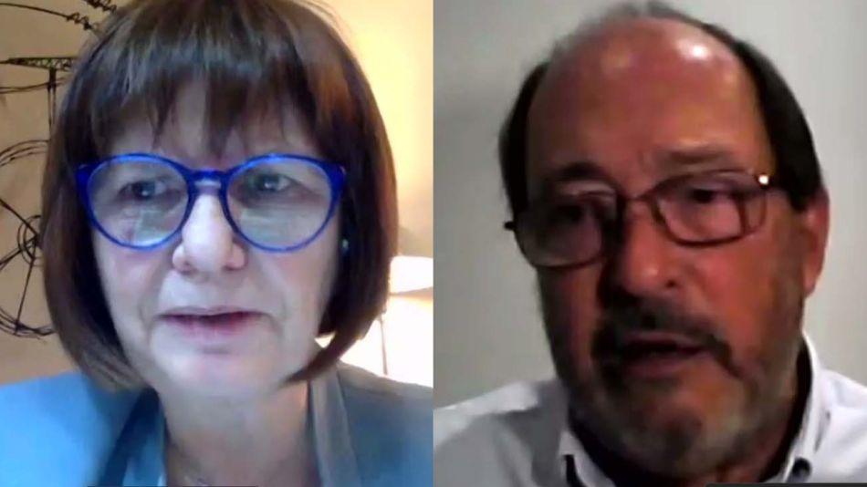 Patricia Bullrich y Ernesto Sanz -20200820