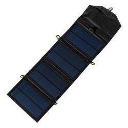 Un panel solar de 7 W y de medidas muy reducidas. Plegado mide 17 x 10 x 25 cm, mientras que extendido llega a 55 x 17 x 0,3 cm.