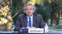 Alberto Fernández, durante la teleconferencia de este viernes 21 de agosto.