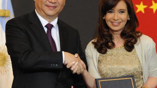 Cristina Kirchner con Xi Jinping.