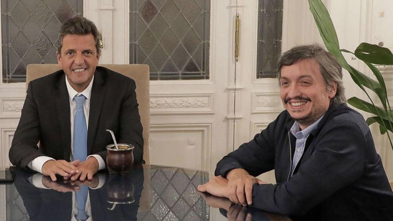 Sergio Massa y Máximo Kirchner.   Foto:Cedoc.