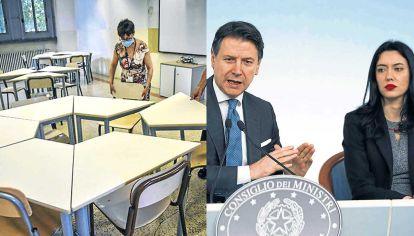 Preparativos. Los sindicatos aseguran que faltan certezas. El primer ministro Conte y la ministra de Educación, defienden la decisión.