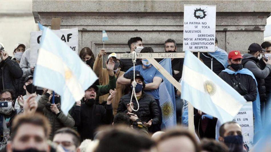 17 agosto protesta marcha obelisco
