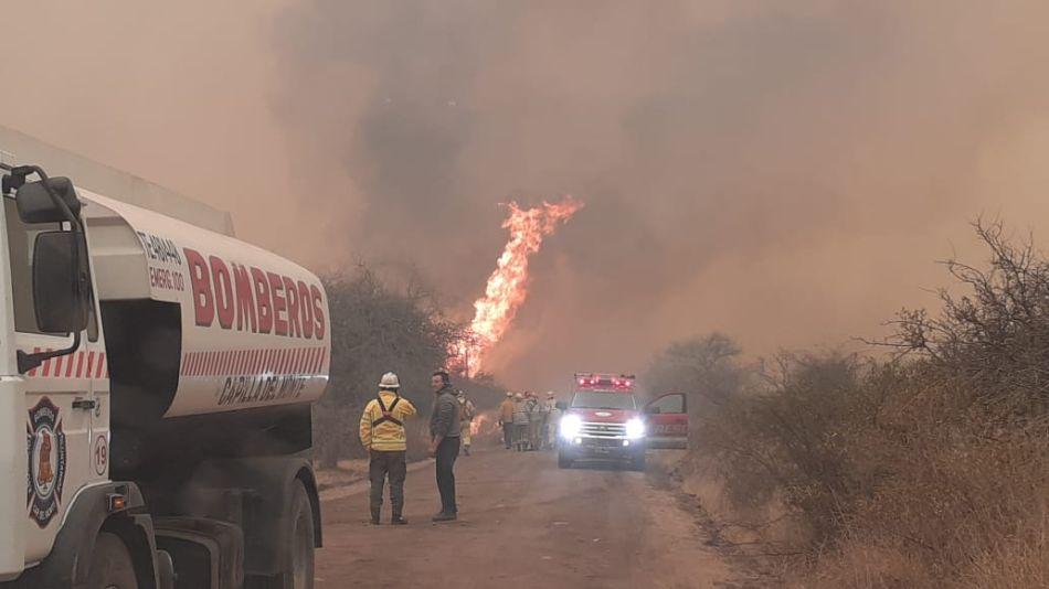 Incendio en Punilla, Córdoba