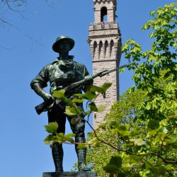 El monumento a los Padres Peregrinos, frente al Provincetown Museum. Desde la torre se tiene una bella vista sobre Cape Cod. Foto: Tim Grafft/Massachusetts Office of Travel and Tourism/dpa