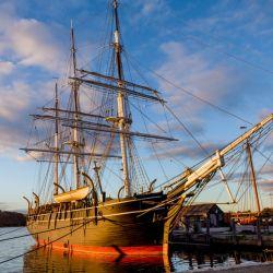 """El velero """"Charles W. Morgan"""" es una de las atracciones del Mystic Seaport Museum. Foto: Joe Michael/Mystic Seaport Museum/dpa"""