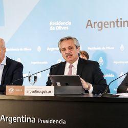 Alberto Fernández, Horacio Rodríguez Larreta y Axel Kicillof   Foto:Cedoc
