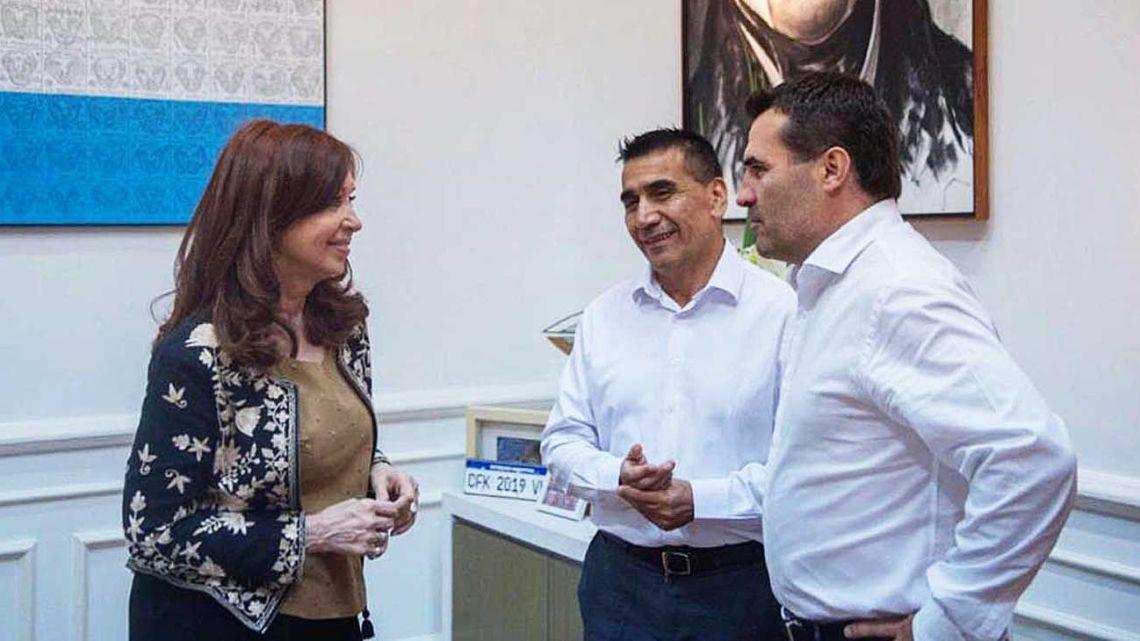Cristina Fernández de Kirchner, Ramón Rioseco and new energy secretaryt, Darío Martínez.