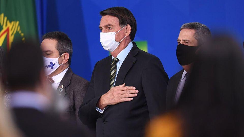 """Bolsonaro en el acto """"Venciendo a la Covid-19"""""""