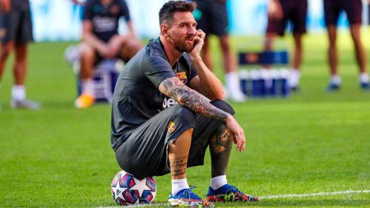Messi manifestó ayer su voluntad de no seguir en el club.