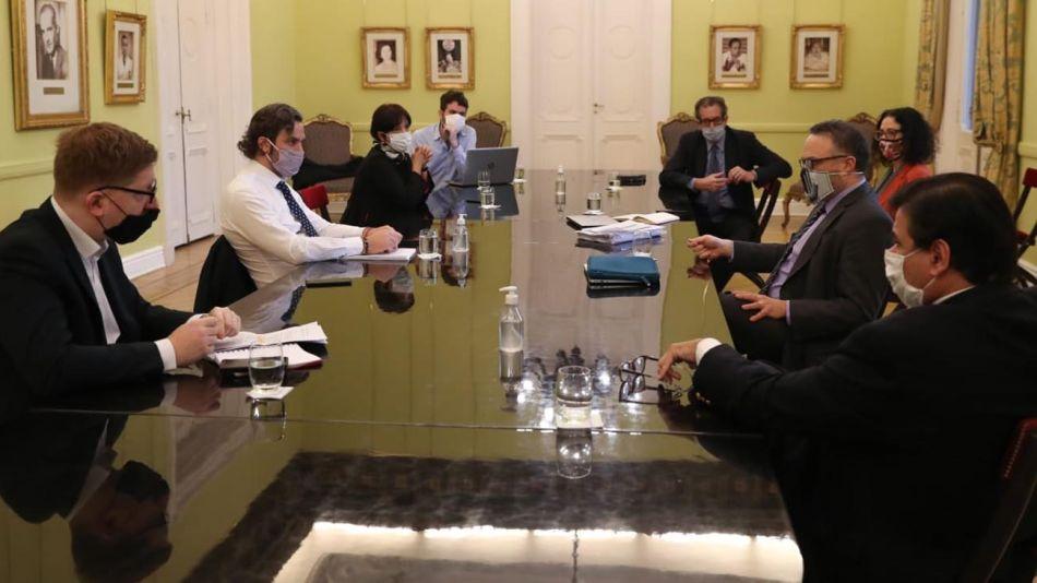 Reunión del Gabinete Económico para definir las nuevas pautas del ATP 5. 20200826
