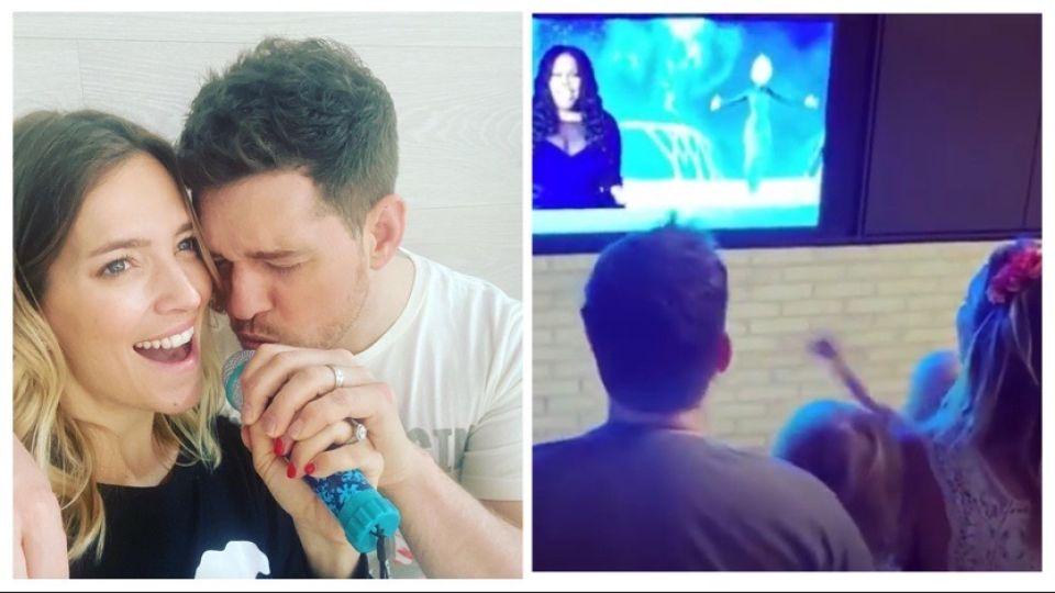 VIDEO | Luisana Lopilato y Michale Bublé y sus hijos hicieron un show aparte cantanto Frozen