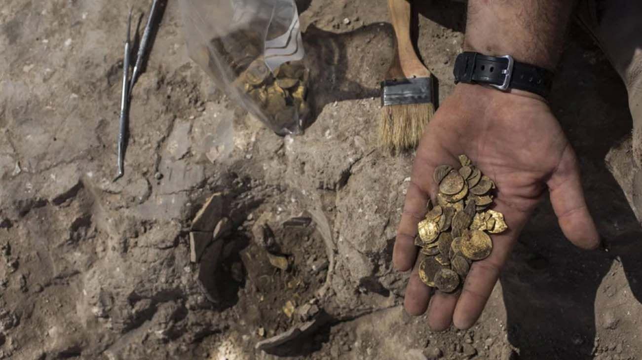 Las monedas, 425 en total, estaban hechas de oro puro de 24 quilates y pesaban 845 gramos.