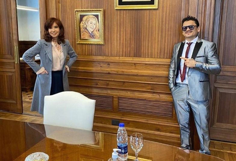 Cristina Kirchner y el Chino Maidana