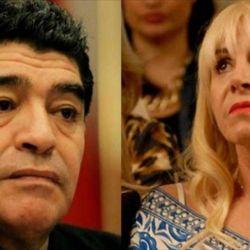 Claudia Villafañe- Diego Maradona   Foto:Cedoc