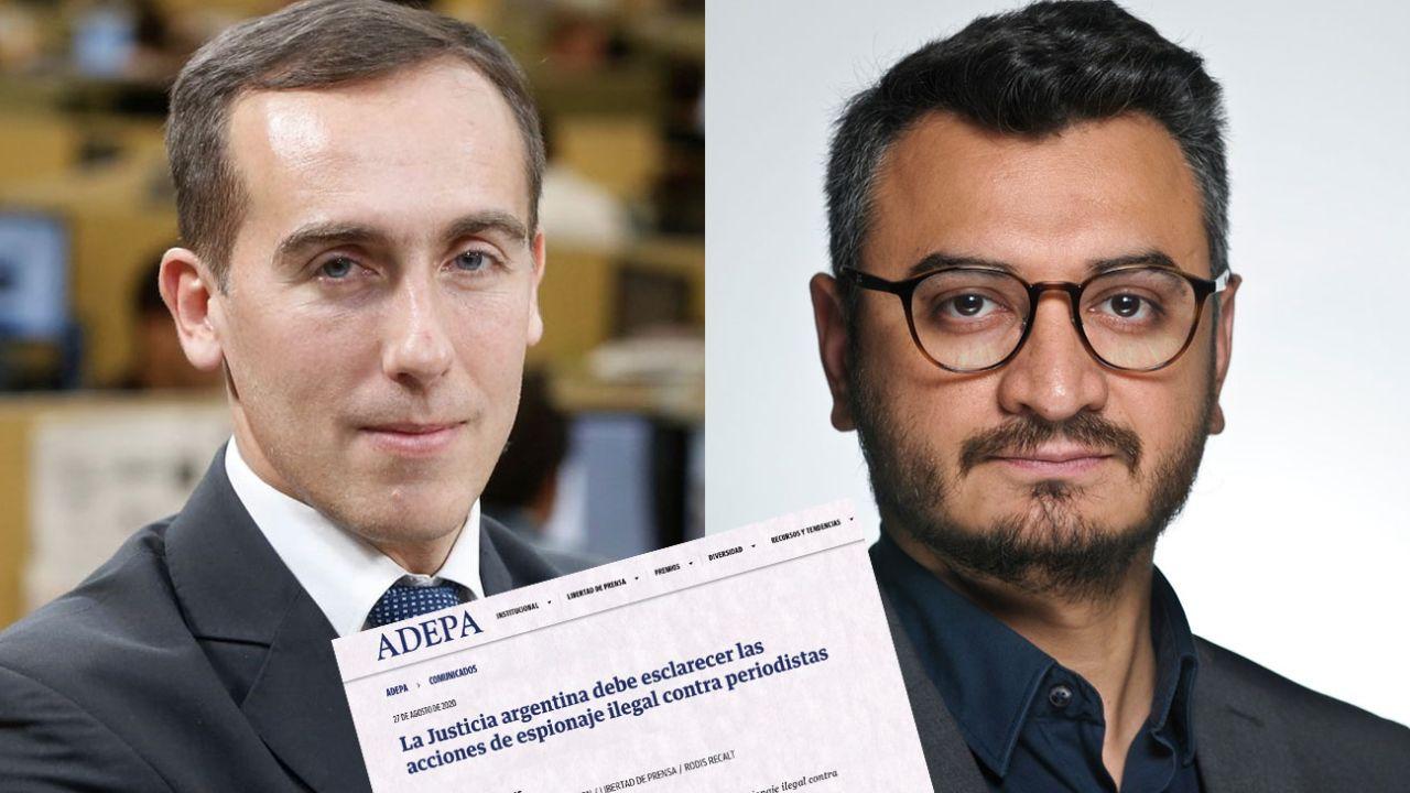 Hugo Alconada Mon y Rodis Recalt, espiados por sus notas.   Foto:Cedoc.