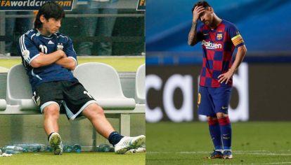 Las dos caras de Lionel Messi en 2006 y 2020.