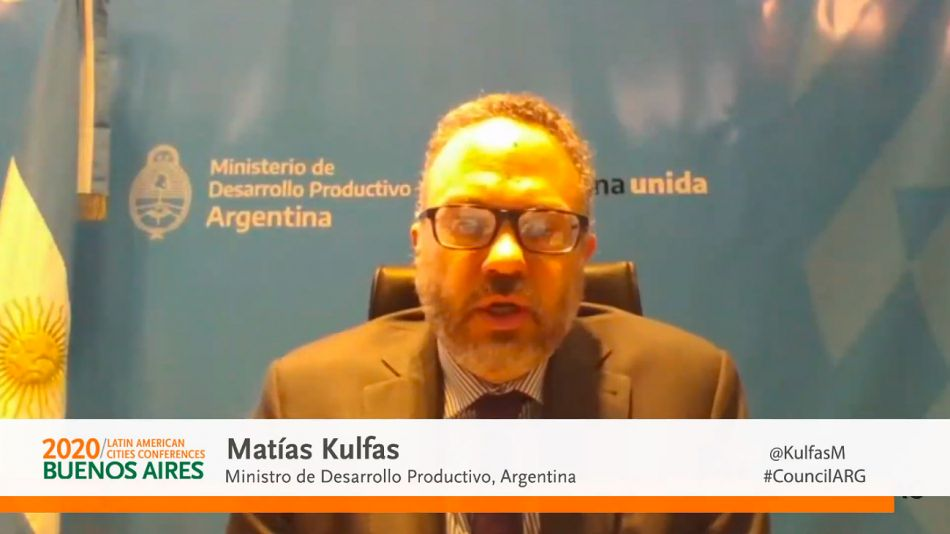 Matías Kulfas en el Council of Americas 2020.