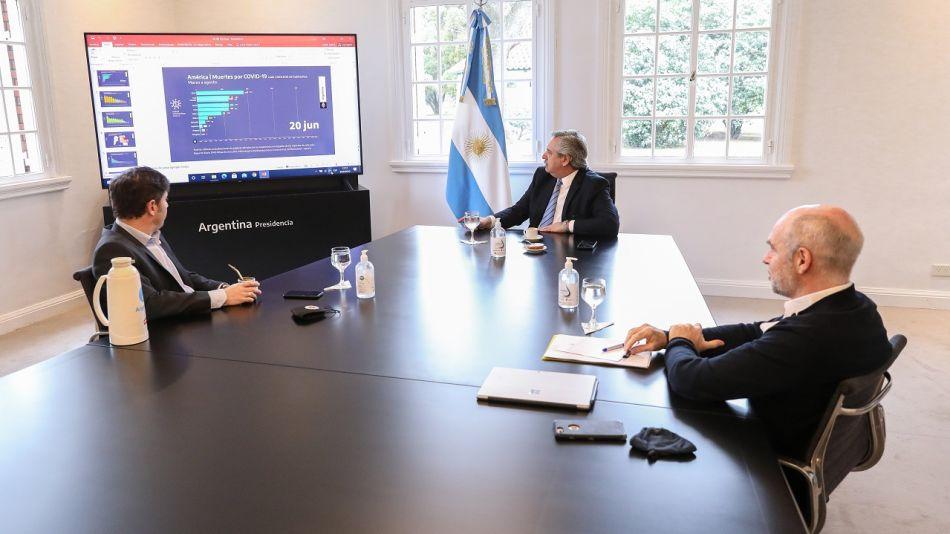 Alberto Fernández, Axel Kicillof, Rodríguez Larreta