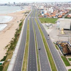 Así está Mar del Plata: vacía por el retroceso en las etapas de la cuarentena.