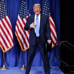 Trump al ser reconocido por la convención republicana.  | Foto:AFP