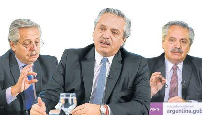 Alberto Fernández . El presidente durante la cuarentena.