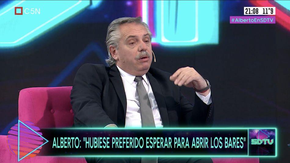 Alberto Fernández en Sobredosis de TV, por C5N.