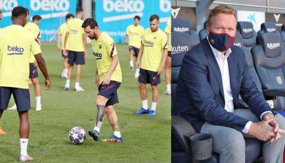 El dolor de ya no ser. Leo en el entrenamiento del Barcelona ya es parte del pasado. Koeman, el flamante entrenador, lo espera.