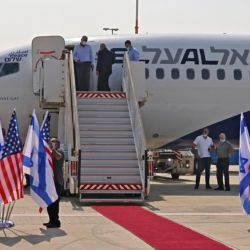 Del vuelo participaron asesores de Donald Trump y del primer ministro israelí.