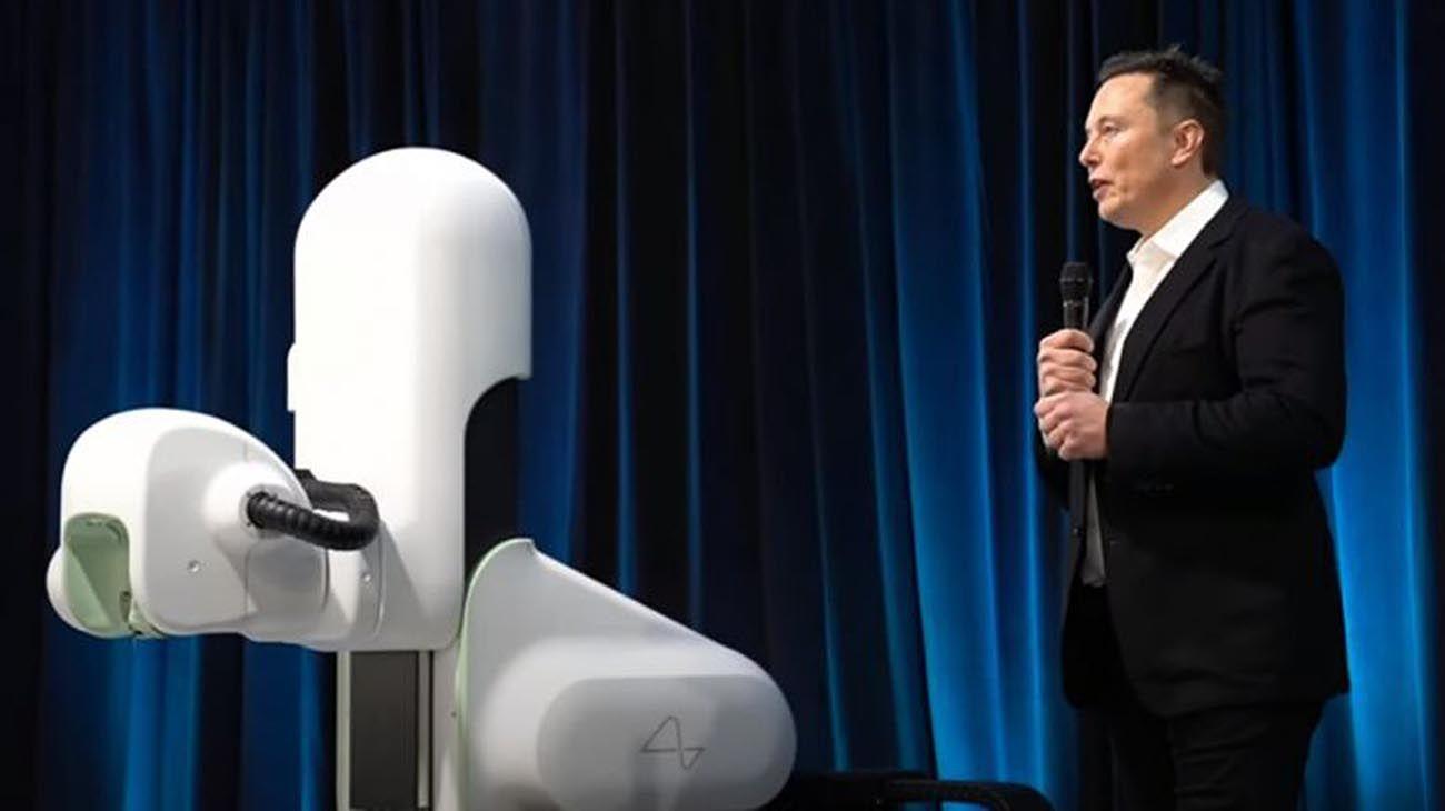 Elon musk en la presentacion de neuralink