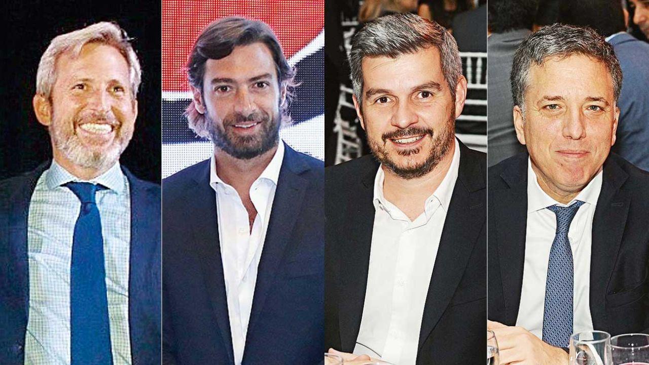 Rogelio Frigerio, Federico Salvai, Marcos Peña y Nicolás Dujovne. | Foto:Cedoc.