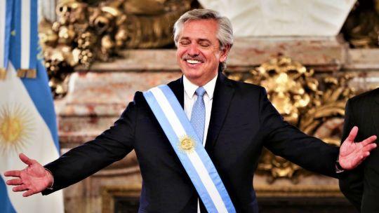 Alberto Fernández al asumir la presidencia en diciembre.