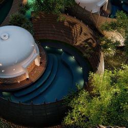 Cocoon Hotel & Resort en Tulum Ubicado en Selvazama, México, es lo más nuevo en hotelería. Un desarrollo sostenible ubicado en el medio de la jungla y con forma de capullo.