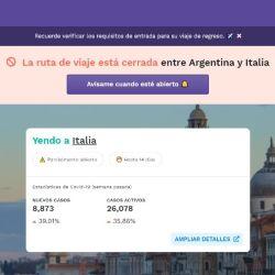 Una web te ayuda a saber si se puede ingresar al país al que te interesa viajar y si tenés que hacer cuarentena cuando llegues.