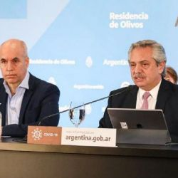 Alberto Fernández y Horacio Rodríguez Larreta | Foto:Cedoc