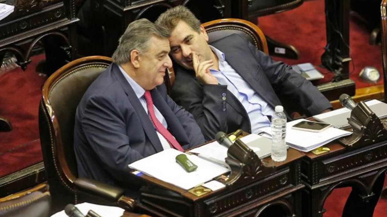 Mario Negri y Cristian Ritondo, jefes opositores.