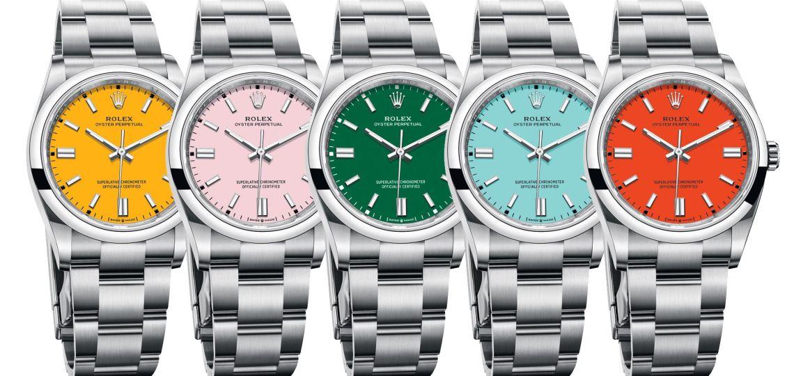 Descubrí los nuevos modelos de Rolex que apuestan al color