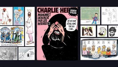 La revista Charlie Hebdo volvió a caricaturizar a Mahoma