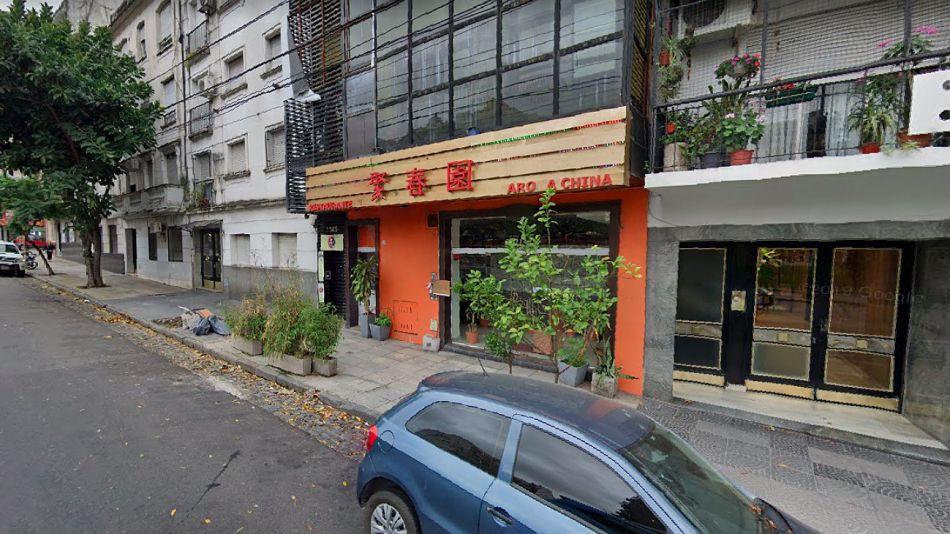 Crimen en el restaurante chino. Paraguay, entre Anchorena y Jean Jaures.