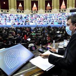 Sergio Massa en la Cámara de Diputados.