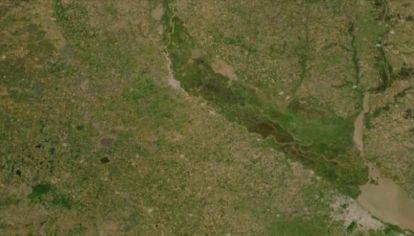 Las imágenes registradas por la NASA no detectan ningún foco de incendio en la zona.