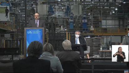 El presidente Alberto Fernández habla en el Día de la Industria