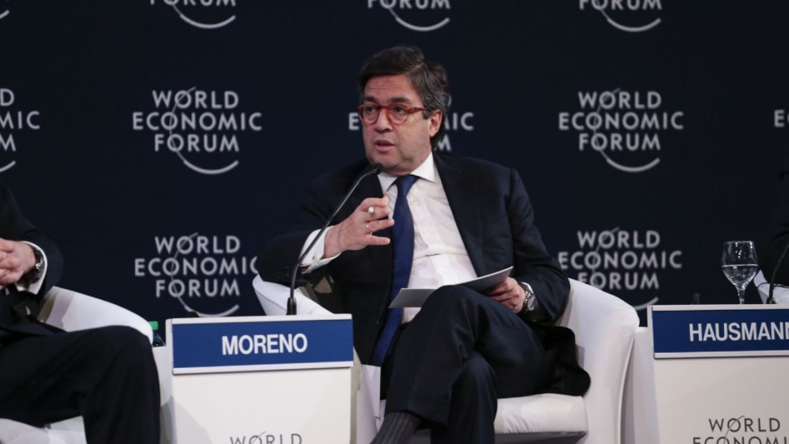 Luis Alberto Moreno, president of the Inter-American Development Bank, speaks during the World Economic Forum on Latin America in Buenos Aires, Argentina, on Thursday, April 6, 2017.